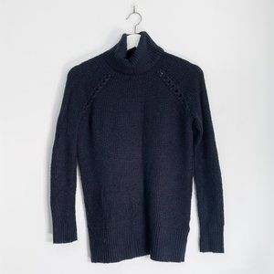 American Eagle Navy Blue Knit Turtleneck, Small